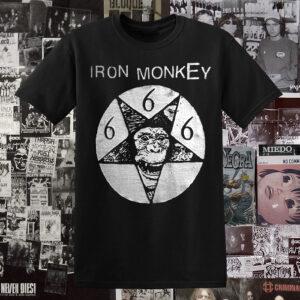 Polera serigrafia Iron Monkey